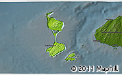 Physical 3D Map of Saint Pierre and Miquelon, darken