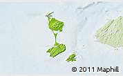 Physical 3D Map of Saint Pierre and Miquelon, lighten