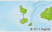 Physical 3D Map of Saint Pierre and Miquelon