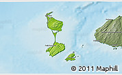 Physical 3D Map of Saint Pierre and Miquelon, semi-desaturated, land only