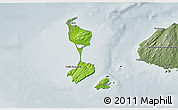 Physical 3D Map of Saint Pierre and Miquelon, semi-desaturated