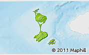 Physical 3D Map of Saint Pierre and Miquelon, single color outside