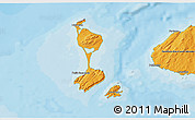Political 3D Map of Saint Pierre and Miquelon, political shades outside