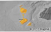 Political Shades 3D Map of Saint Pierre and Miquelon, darken, desaturated