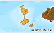 Political Shades 3D Map of Saint Pierre and Miquelon, darken, land only