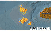 Political Shades 3D Map of Saint Pierre and Miquelon, darken