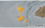 Political Shades 3D Map of Saint Pierre and Miquelon, darken, semi-desaturated