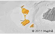 Political Shades 3D Map of Saint Pierre and Miquelon, desaturated
