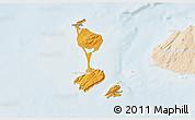Political Shades 3D Map of Saint Pierre and Miquelon, lighten
