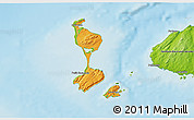 Political Shades 3D Map of Saint Pierre and Miquelon, physical outside