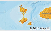 Political Shades 3D Map of Saint Pierre and Miquelon