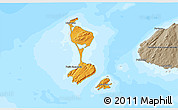 Political Shades 3D Map of Saint Pierre and Miquelon, semi-desaturated, land only
