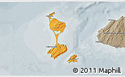 Political Shades 3D Map of Saint Pierre and Miquelon, semi-desaturated