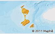 Political Shades 3D Map of Saint Pierre and Miquelon, single color outside