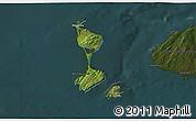 Satellite 3D Map of Saint Pierre and Miquelon, darken