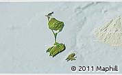 Satellite 3D Map of Saint Pierre and Miquelon, lighten