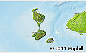Satellite 3D Map of Saint Pierre and Miquelon, physical outside