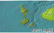 Satellite 3D Map of Saint Pierre and Miquelon, physical outside, satellite sea