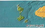 Satellite 3D Map of Saint Pierre and Miquelon, political outside, satellite sea