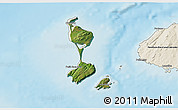 Satellite 3D Map of Saint Pierre and Miquelon, shaded relief outside