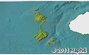 Satellite 3D Map of Saint Pierre and Miquelon, single color outside