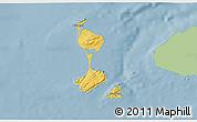 Savanna Style 3D Map of Saint Pierre and Miquelon, single color outside