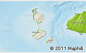 Shaded Relief 3D Map of Saint Pierre and Miquelon, physical outside