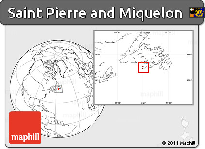 Blank Location Map of Saint Pierre and Miquelon