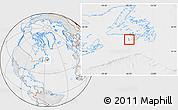 Political Location Map of Saint Pierre and Miquelon, lighten, desaturated