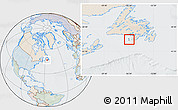 Political Location Map of Saint Pierre and Miquelon, lighten, semi-desaturated