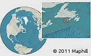 Satellite Location Map of Saint Pierre and Miquelon, lighten, land only
