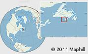 Savanna Style Location Map of Saint Pierre and Miquelon, lighten, land only
