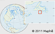 Savanna Style Location Map of Saint Pierre and Miquelon, lighten