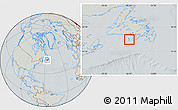 Savanna Style Location Map of Saint Pierre and Miquelon, lighten, semi-desaturated, hill shading