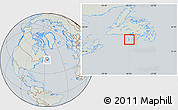 Savanna Style Location Map of Saint Pierre and Miquelon, lighten, semi-desaturated