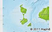 Physical Map of Saint Pierre and Miquelon