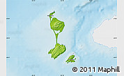 Physical Map of Saint Pierre and Miquelon, single color outside