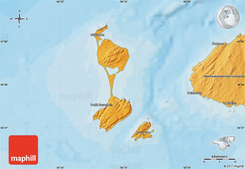 Political Map Of Saint Pierre And Miquelon - Saint pierre and miquelon map