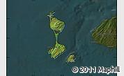 Satellite Map of Saint Pierre and Miquelon, darken