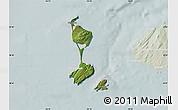 Satellite Map of Saint Pierre and Miquelon, lighten