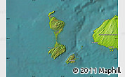 Satellite Map of Saint Pierre and Miquelon, physical outside, satellite sea