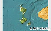 Satellite Map of Saint Pierre and Miquelon, political outside, satellite sea