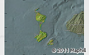 Satellite Map of Saint Pierre and Miquelon, semi-desaturated