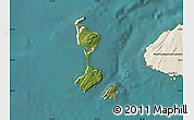 Satellite Map of Saint Pierre and Miquelon, shaded relief outside, satellite sea