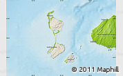 Shaded Relief Map of Saint Pierre and Miquelon, physical outside
