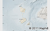 Shaded Relief Map of Saint Pierre and Miquelon, semi-desaturated