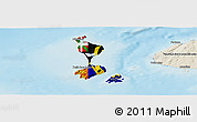 Flag Panoramic Map of Saint Pierre and Miquelon, shaded relief outside