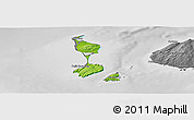 Physical Panoramic Map of Saint Pierre and Miquelon, desaturated