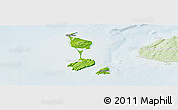 Physical Panoramic Map of Saint Pierre and Miquelon, lighten