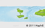 Physical Panoramic Map of Saint Pierre and Miquelon